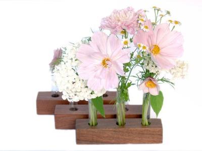 23 Vase aus Nuss 3er Set
