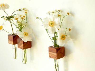 1 Vase Kühlschrankmagnet Holz Magnet