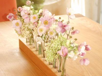 Vase aus Holz Blumenwiese Blumenvase aus Kirsche