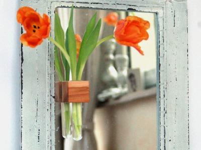 Fenstervase in Apfel Vase mit Reagenzglas