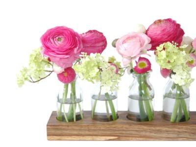 6 Milchkanne aus Nuss, Vase aus Holz, Blumenvase