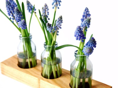 1 Milchkanne aus Kirsche, Blumenvase, Vase,Holz