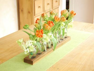 Milchkanne aus Nuss Blumenvase Vase Holzvase
