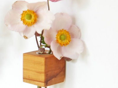 2 Kühlschrankmagnet - Apfelholz