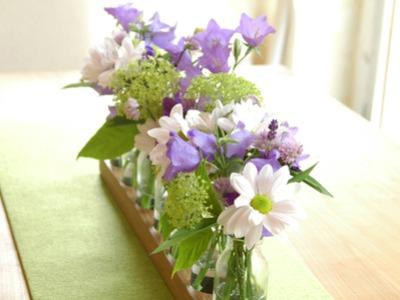 7 Milchkanne aus Nuss Blumenwiese VaseBlumenvase