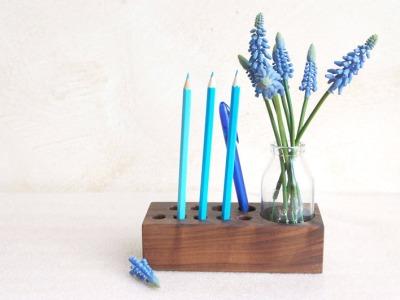 Stifthalter mit Blumenvase Aufbewahrung Stifte