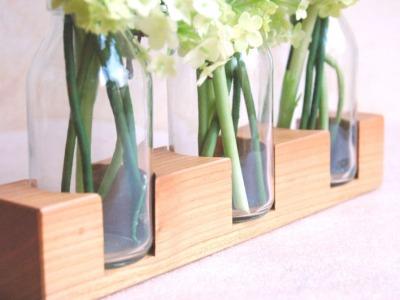3 Milchkanne aus Kirsche Vase Holzvase