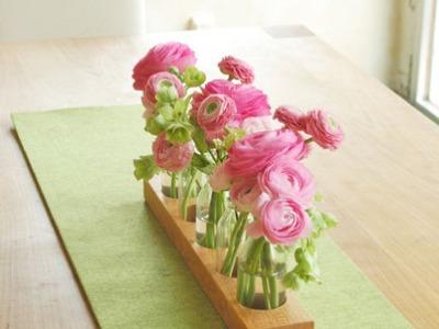 5 Milchkanne aus Kirsche Blumenvase Vase