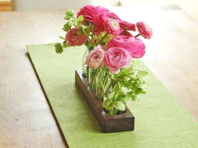 4 Milchkanne aus Nuss Holzvase BlumenvaseVase