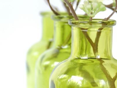 2 Milchkanne aus Nuss grün, Vase, Blumenvase