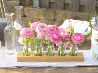 5 Milchkanne aus Eiche Blumenvase Vase Holzvase