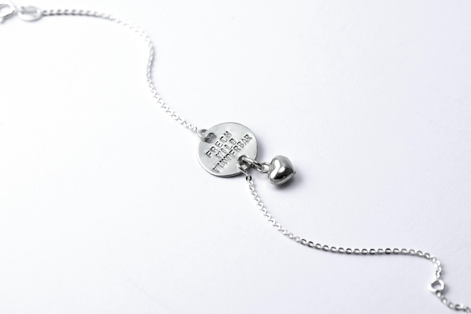 Zartes Silberarmband 1 - Namens- Geburts- - 3