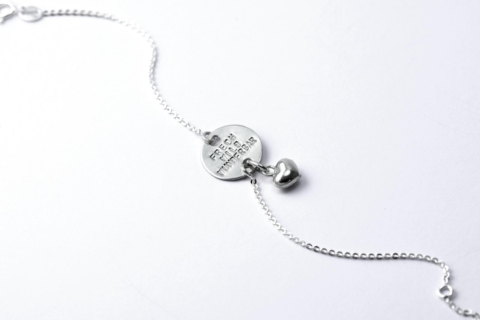 Zartes Silberarmband - Namens- Geburts- Spruchband