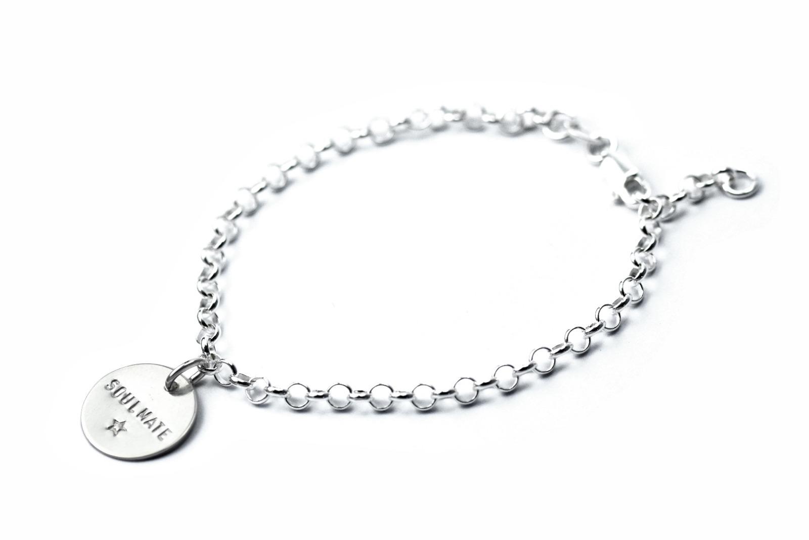 Silberarmband - Namens-, Geburts-, Spruchband - 1