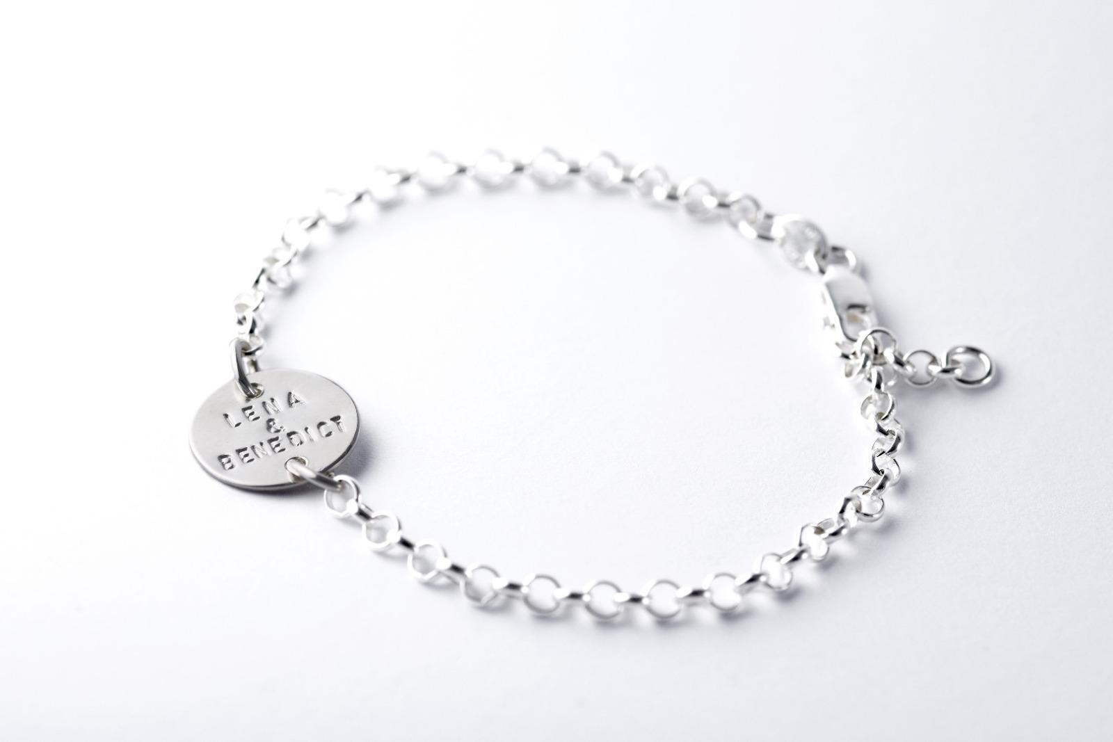 Silberarmband - Namens- Geburts- Spruchband 2