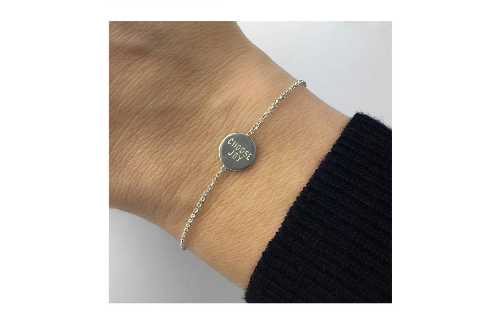 Zartes Silberarmband 2 - Namens- Geburts-