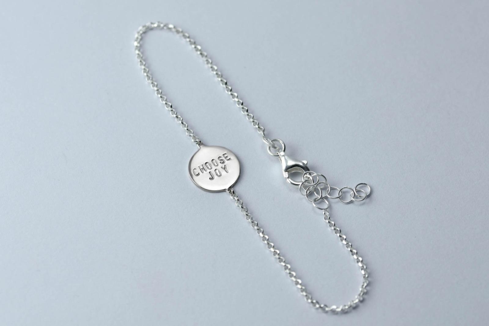 Zartes Silberarmband 2 - Namens-, Geburts-, Sprucharmband