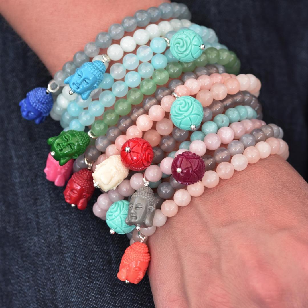 Gemstone Armband BUDDHA-Bead 2