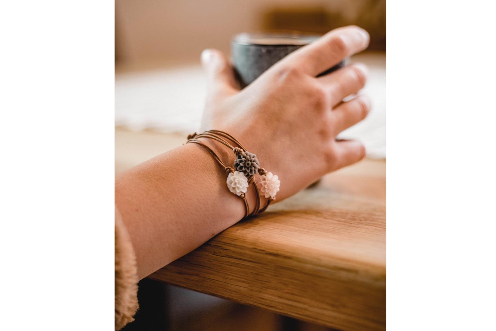 Armbänder Dahlien 3er Set