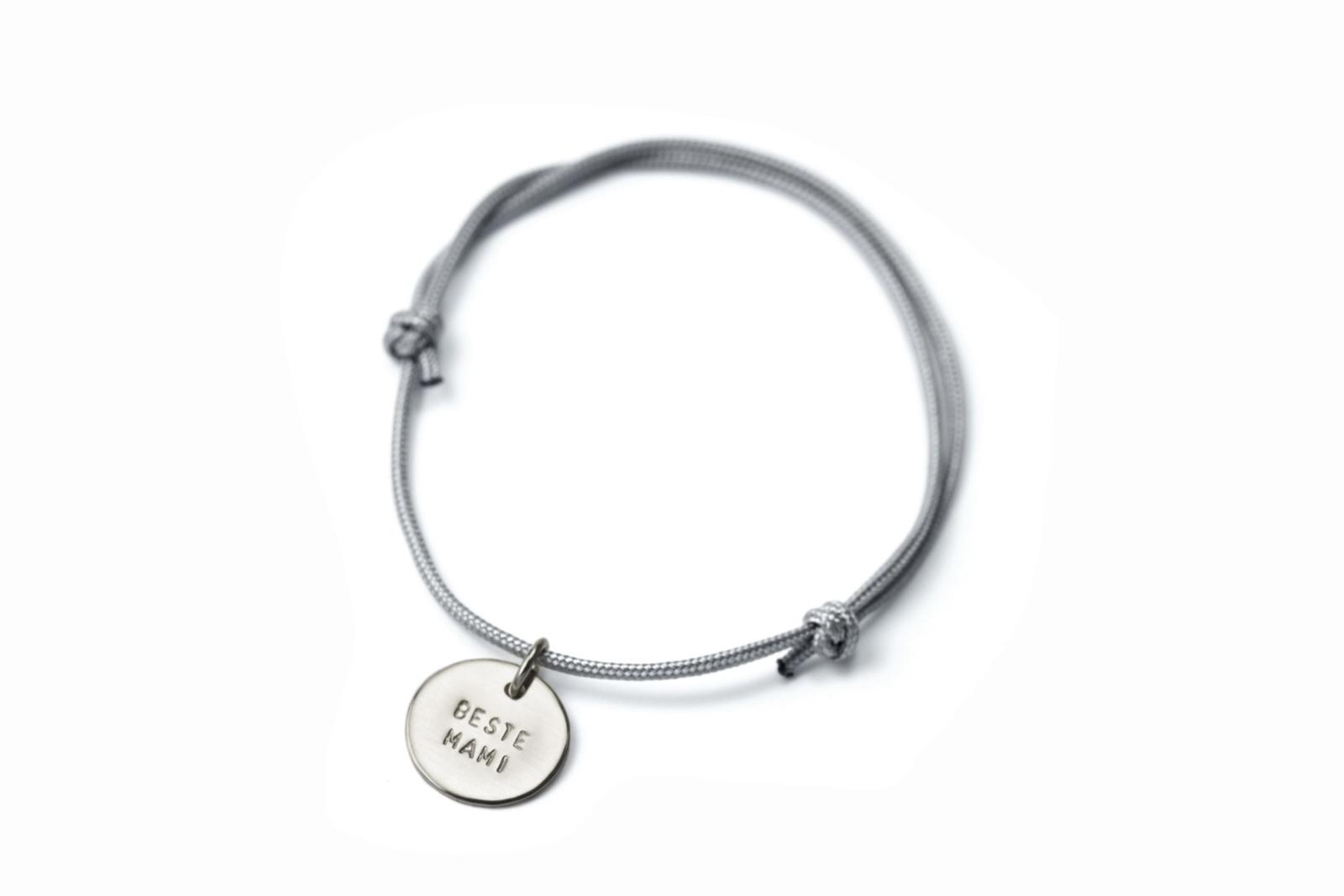 Anhänger-Bracelet - Namens- Geburts- Spruchband