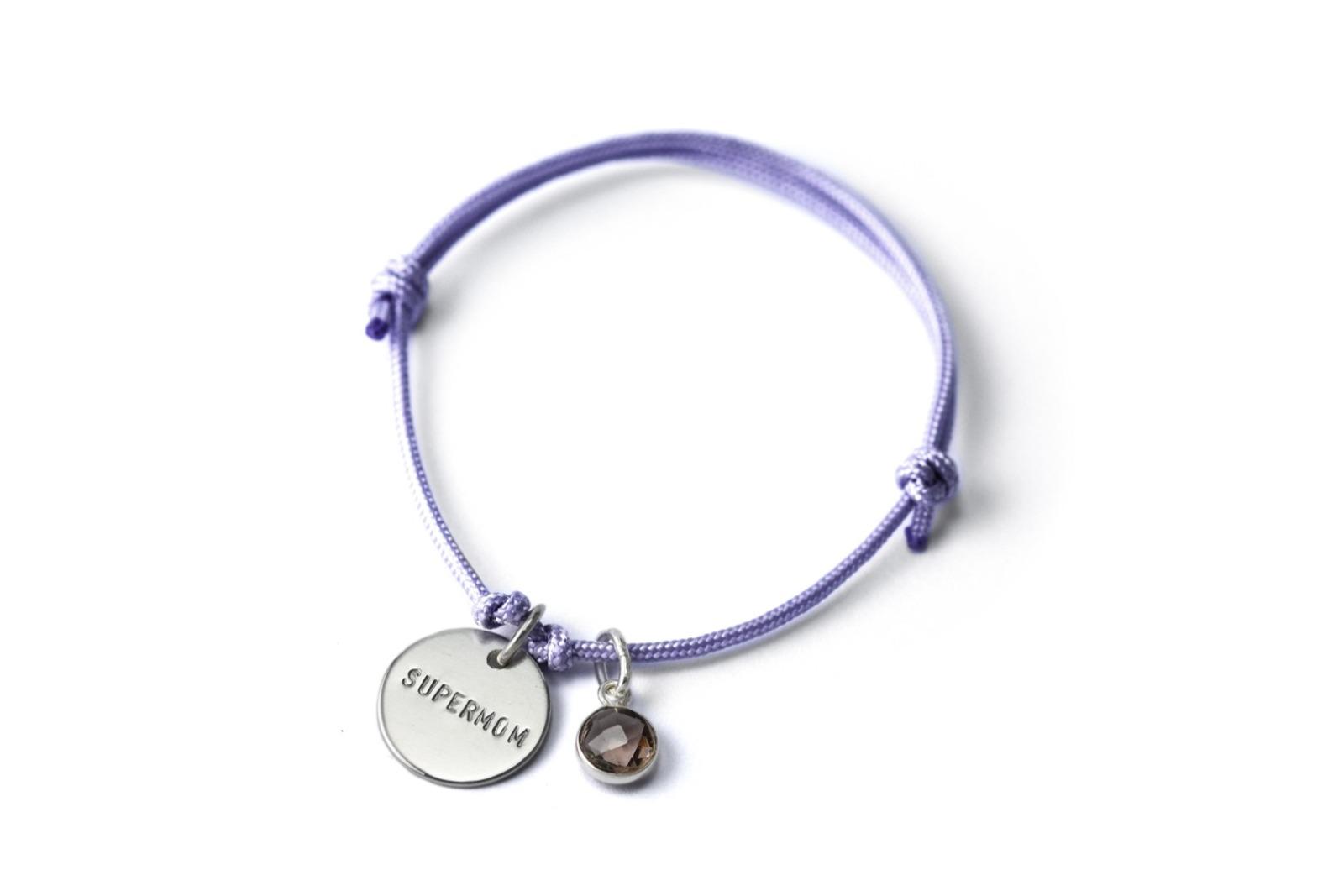 Anhänger-Bracelet Gemstone - Namens- Geburts- Spruchband