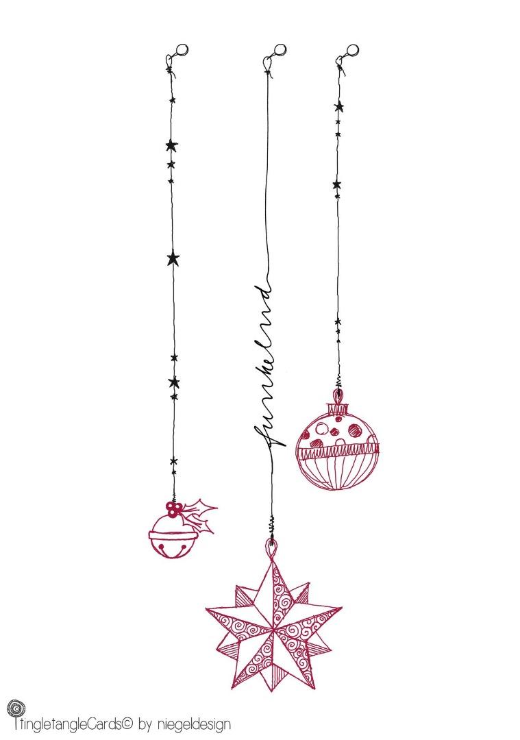 tingletangle Christmas Card 6er Set