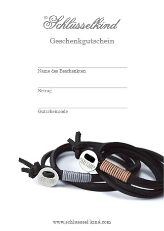 Schlüsselkind -Geschenkgutschein - 1