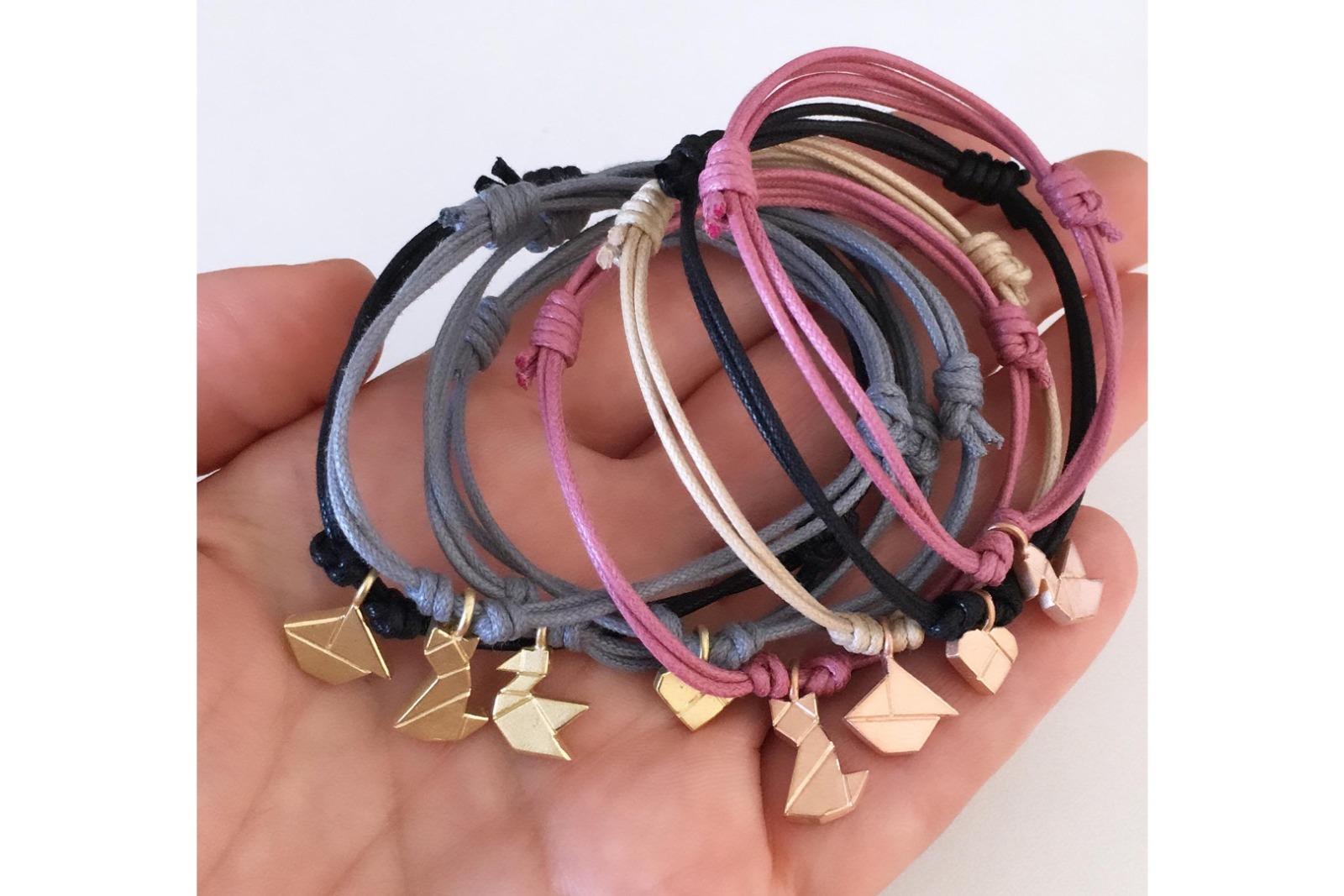 SCHIFFCHEN Tangram Kette oder Armband Silber
