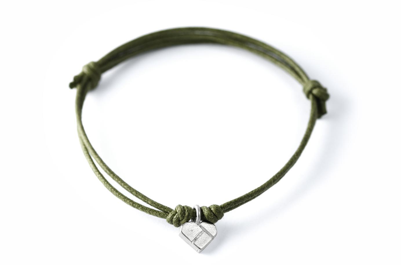 HERZCHEN Tangram Kette oder Armband Silber - 3