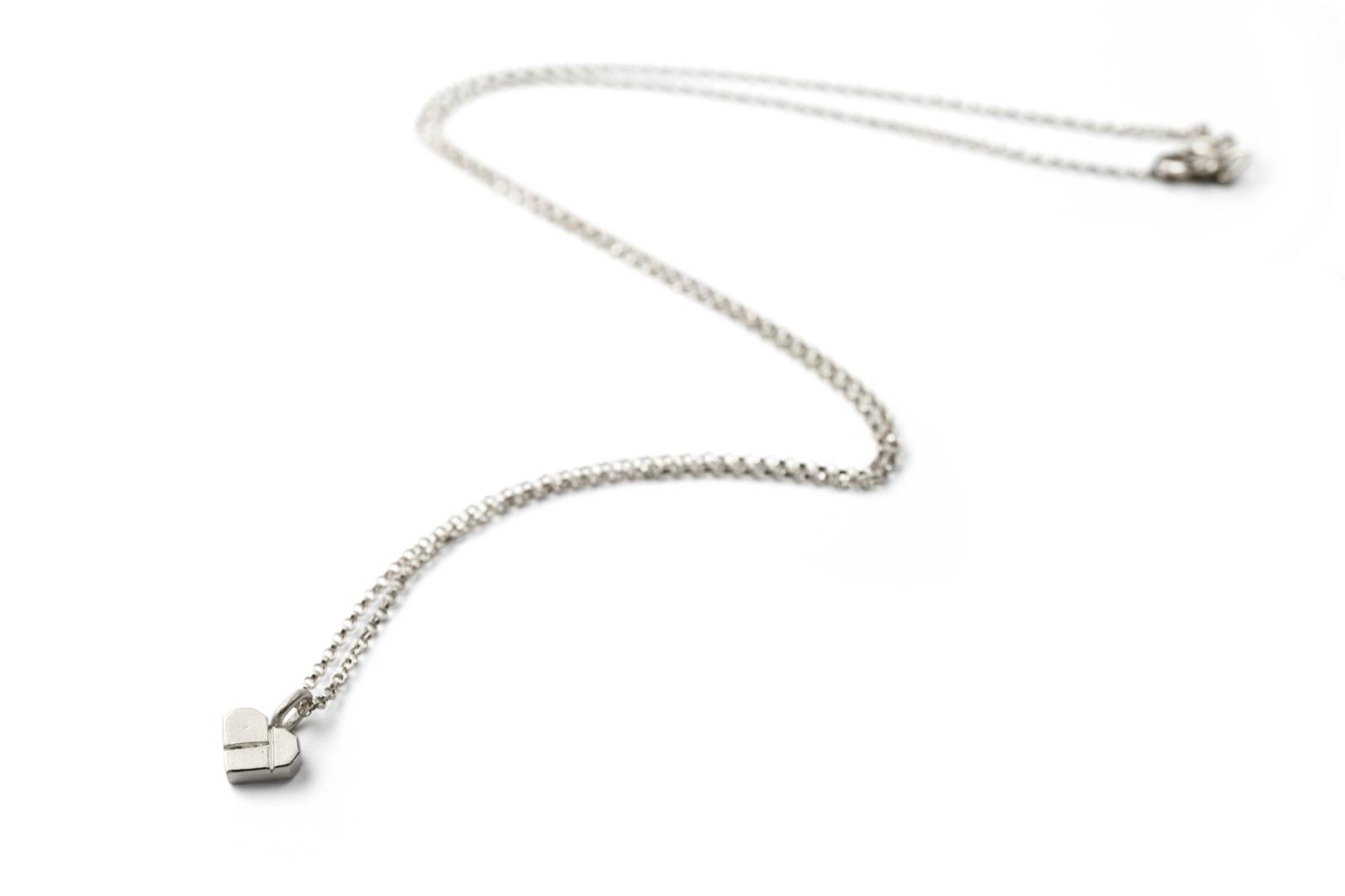 Tangram-Kette HERZCHEN 925 Silber