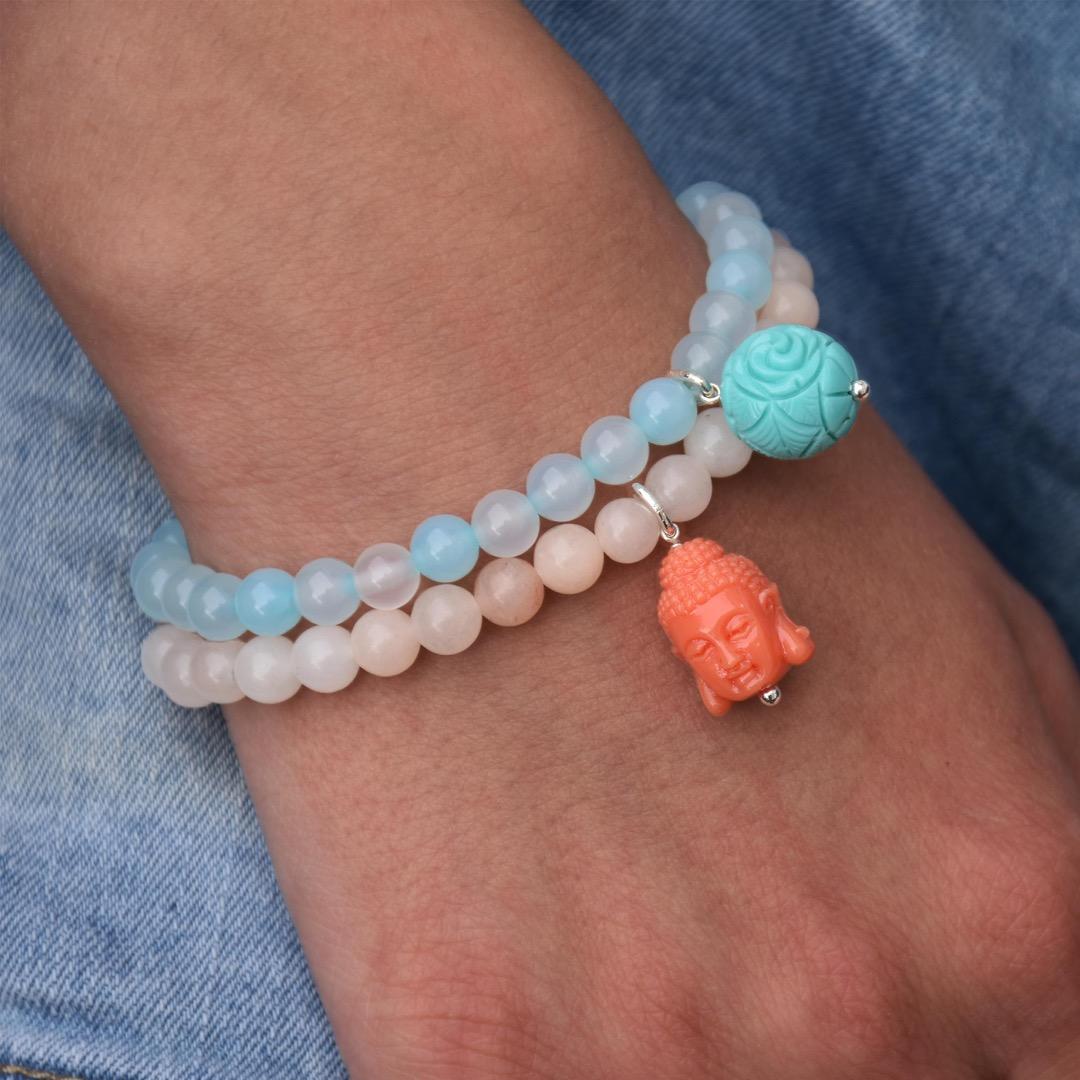 Gemstone Armband BUDDHA-Bead 4