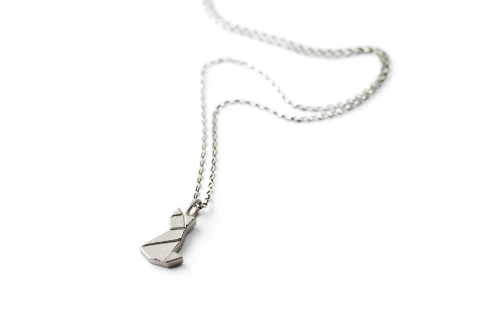 Tangram Kette MIEZE 935 Silber