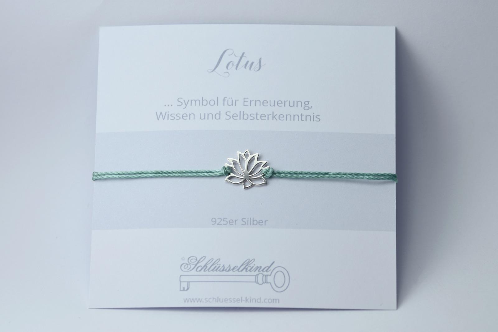 LOTUS Bracelet - 925er Silver 2