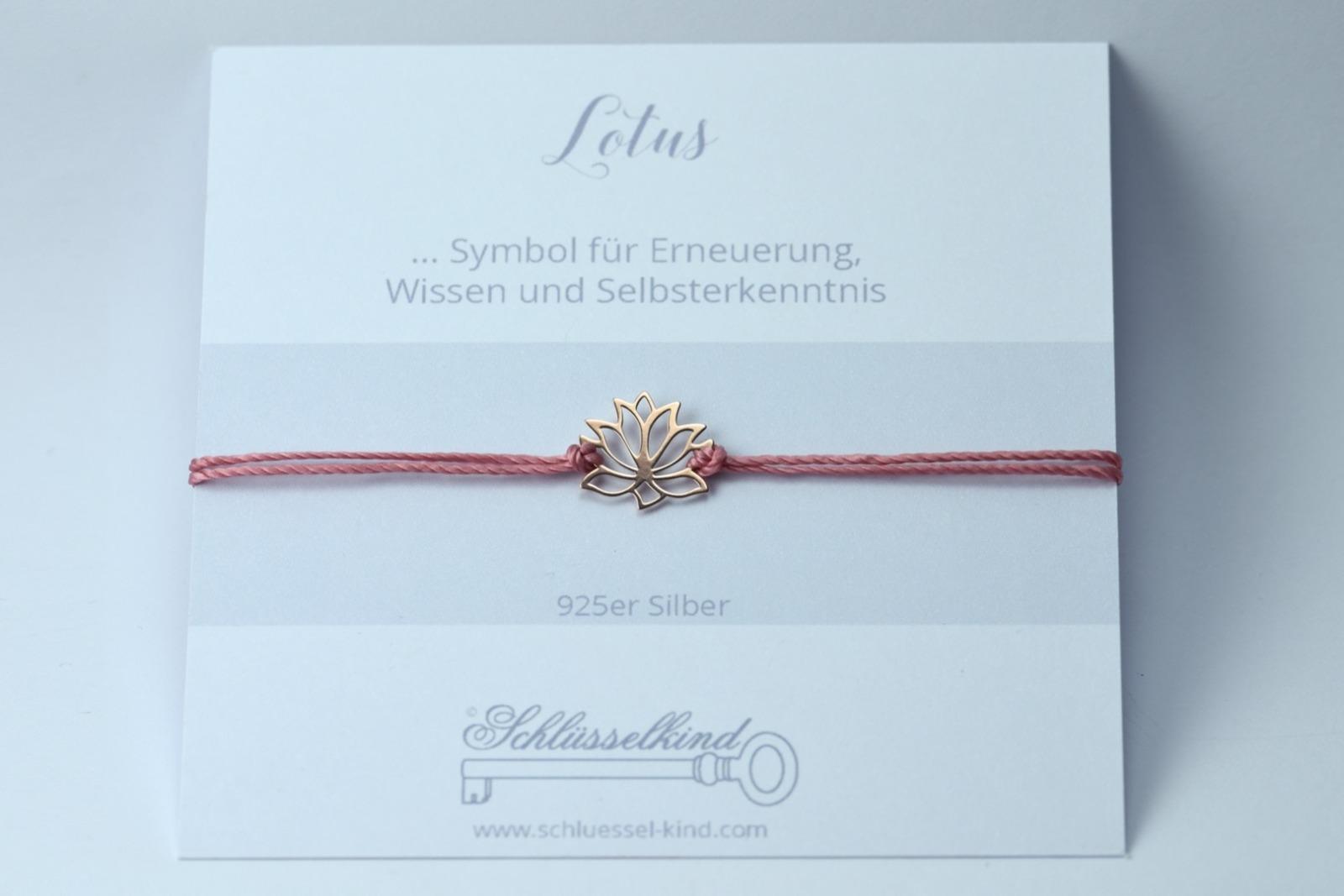 LOTUS Bracelet 925er Silver rosé gold-plated