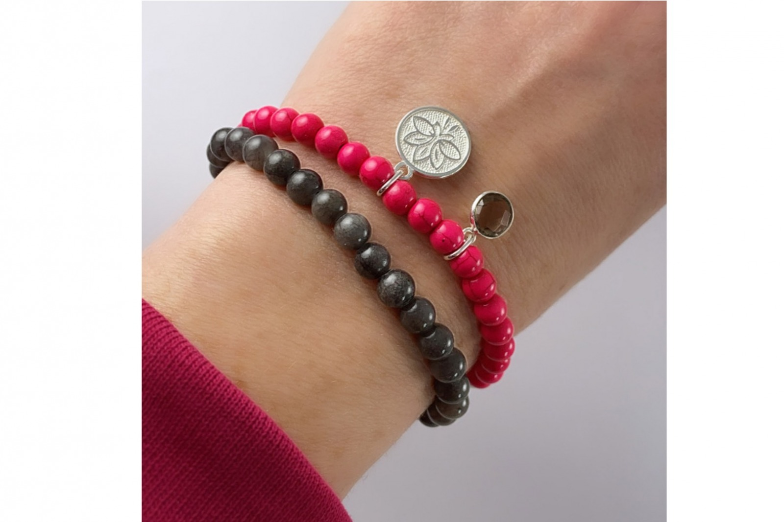 Mala Bracelet PINK LOTUS 2
