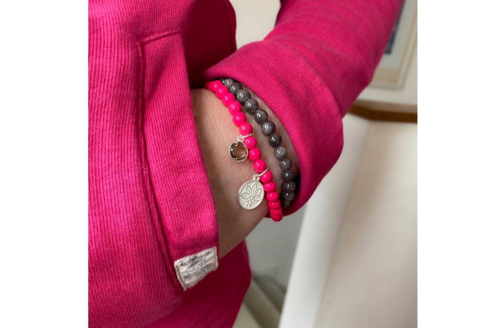 Mala Bracelet PINK LOTUS 3