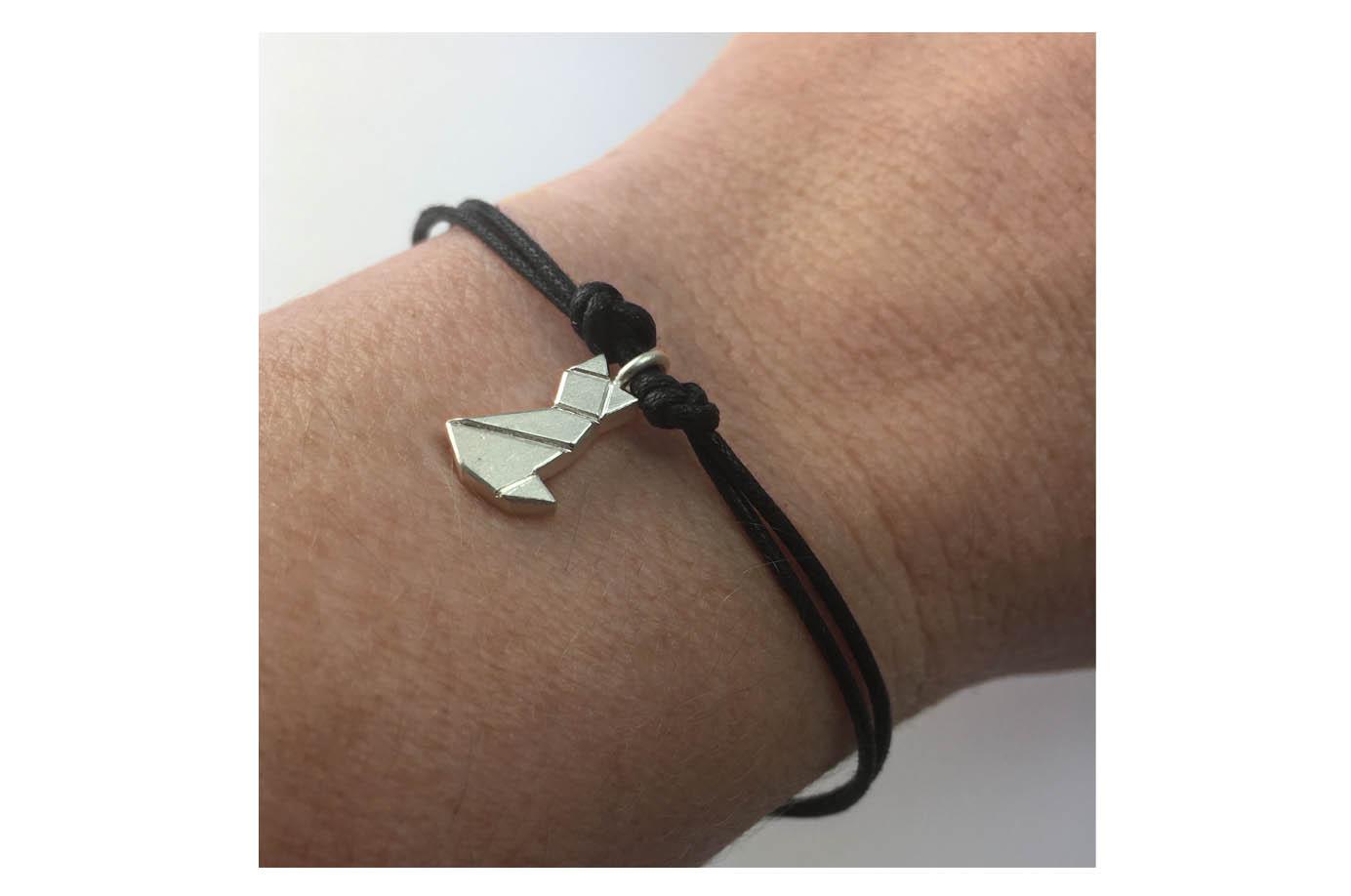 MIEZE - Tangram Kette oder Armband 935 Silber auf Wunsch vergoldet