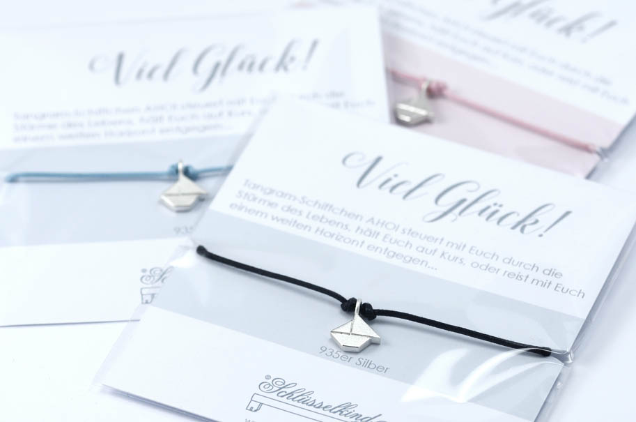 SCHIFFCHEN - Tangram Kette oder Armband 935 Silber auf Wunsch vergoldet