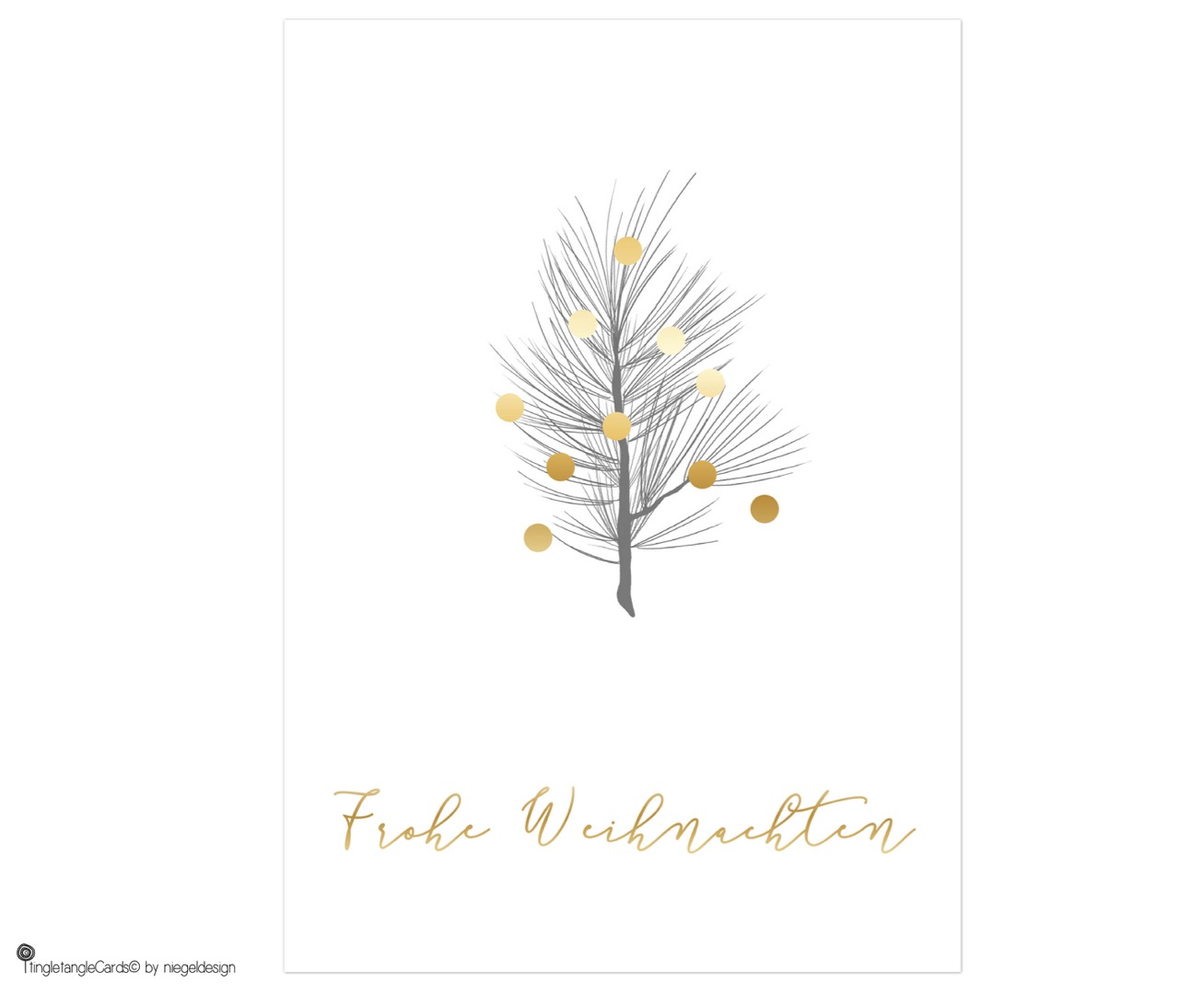 Kiefernzweig - Christmas Card