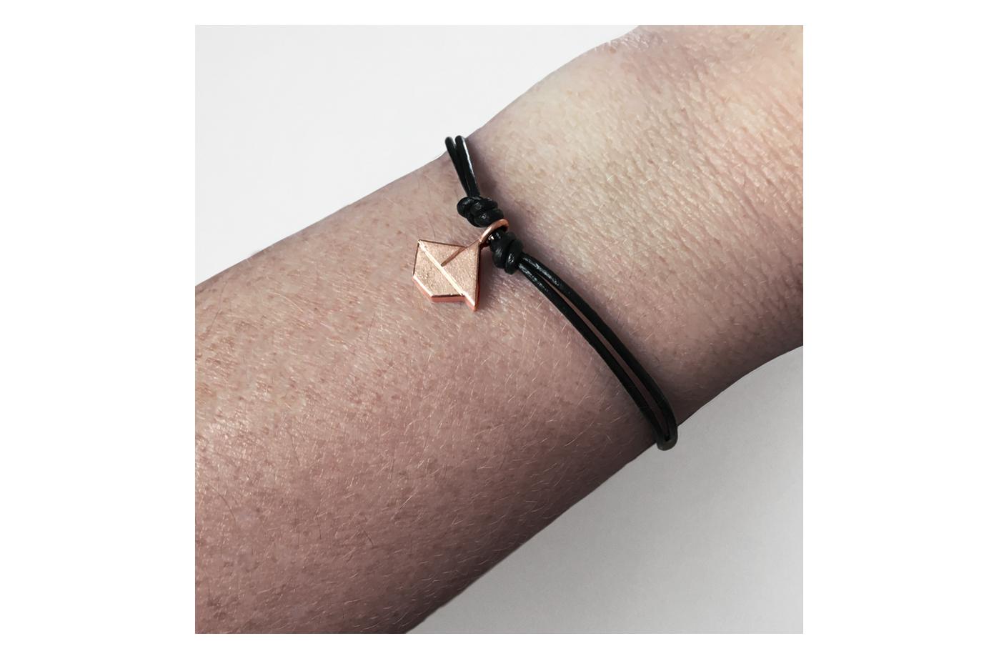 SCHIFFCHEN - Tangram Kette oder Armband, 935 Silber, auf Wunsch vergoldet - 4