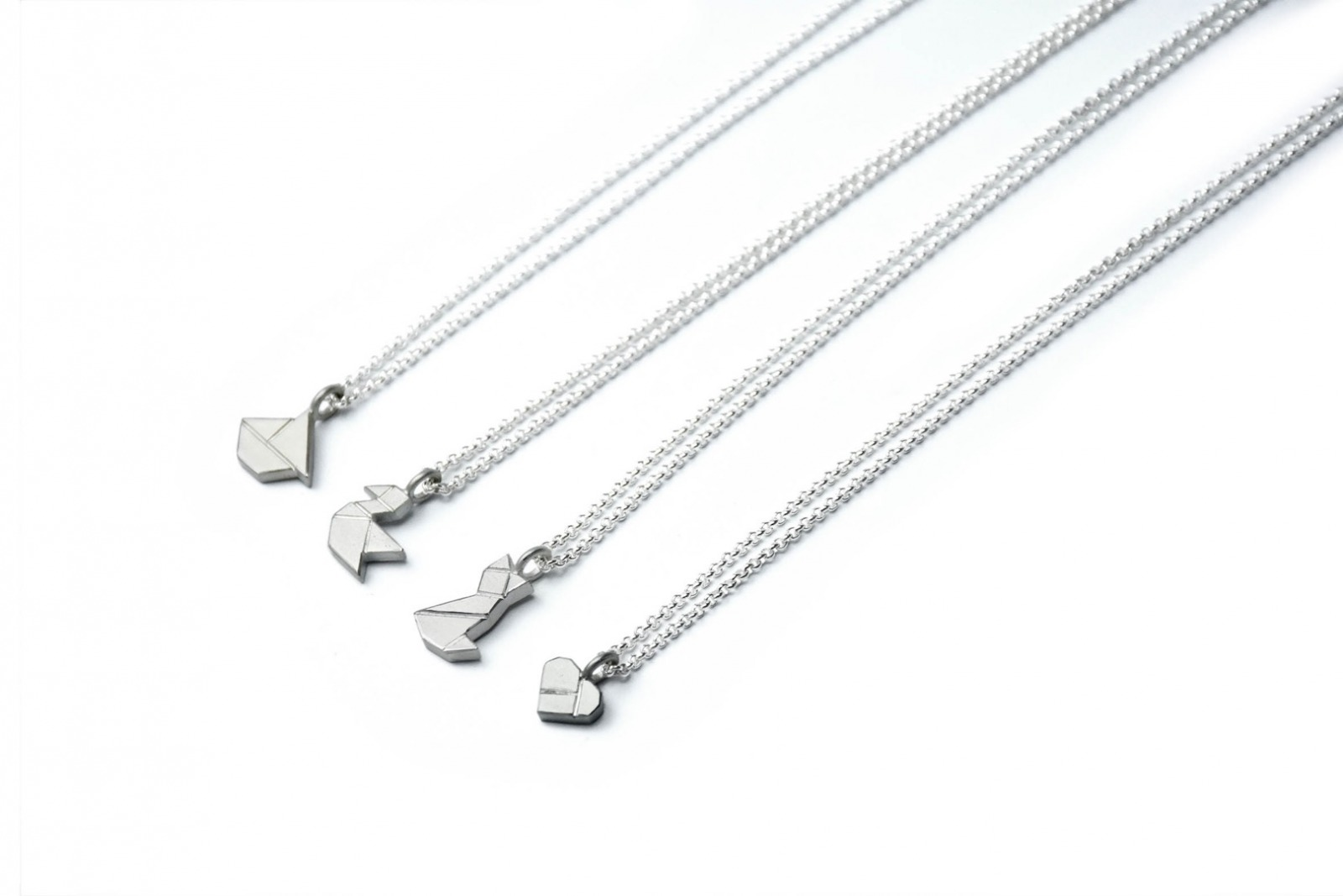 Tangram Kette MIEZE 935 Silber 5