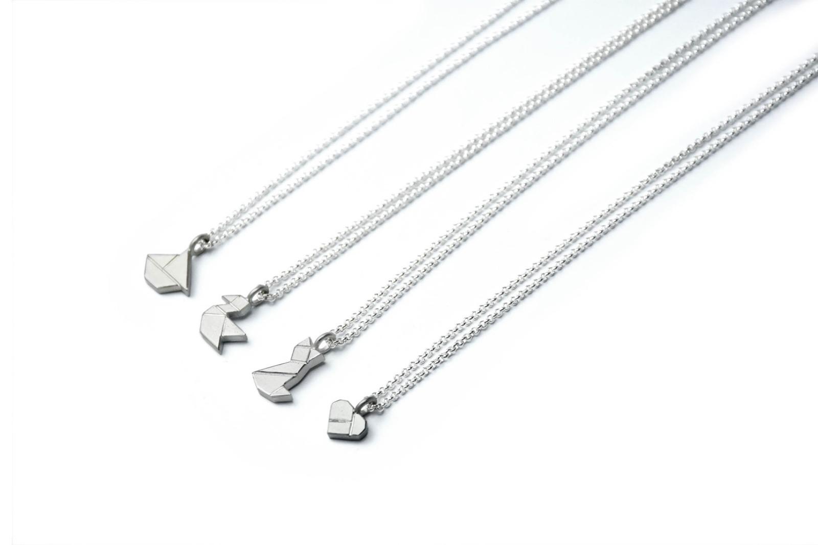 Tangram Kette MIEZE, 935 Silber - 4
