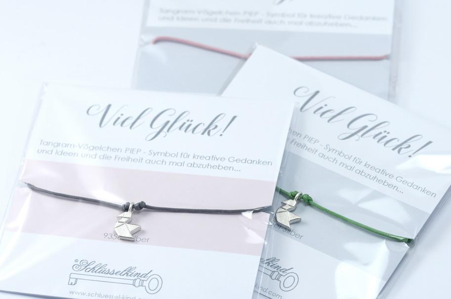 VOeGELCHEN - Tangram Kette oder Armband 935 Silber auf Wunsch vergoldet