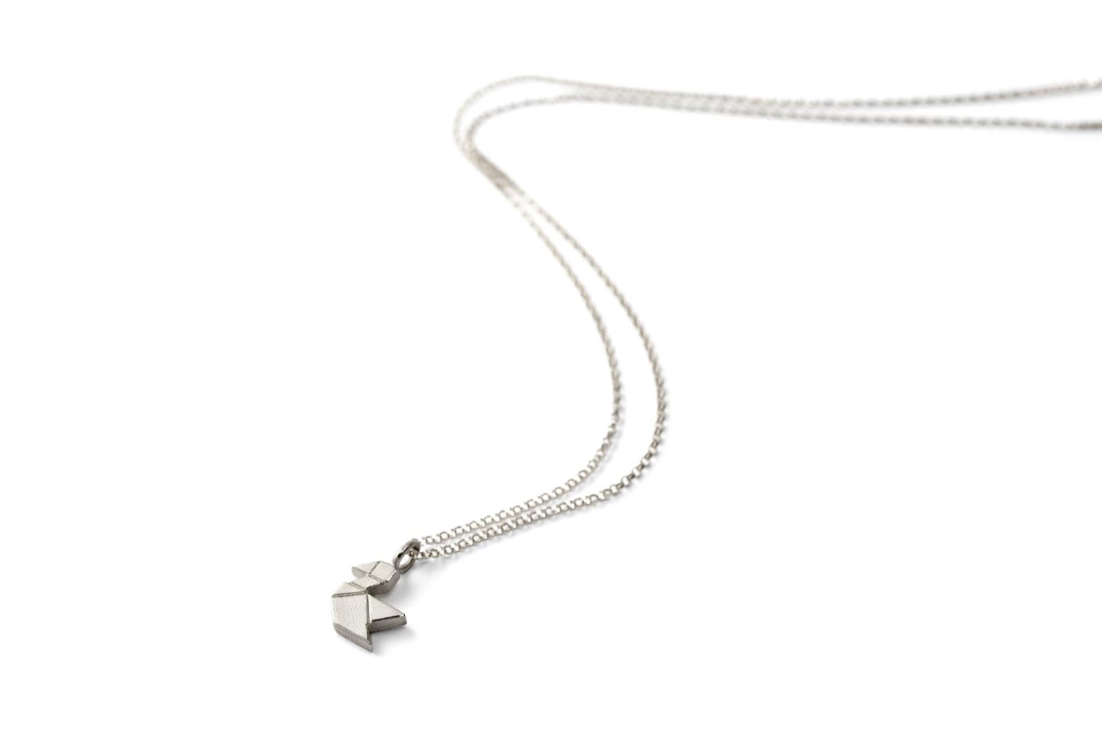 Tangram-Kette VÖGELCHEN 925 Silber