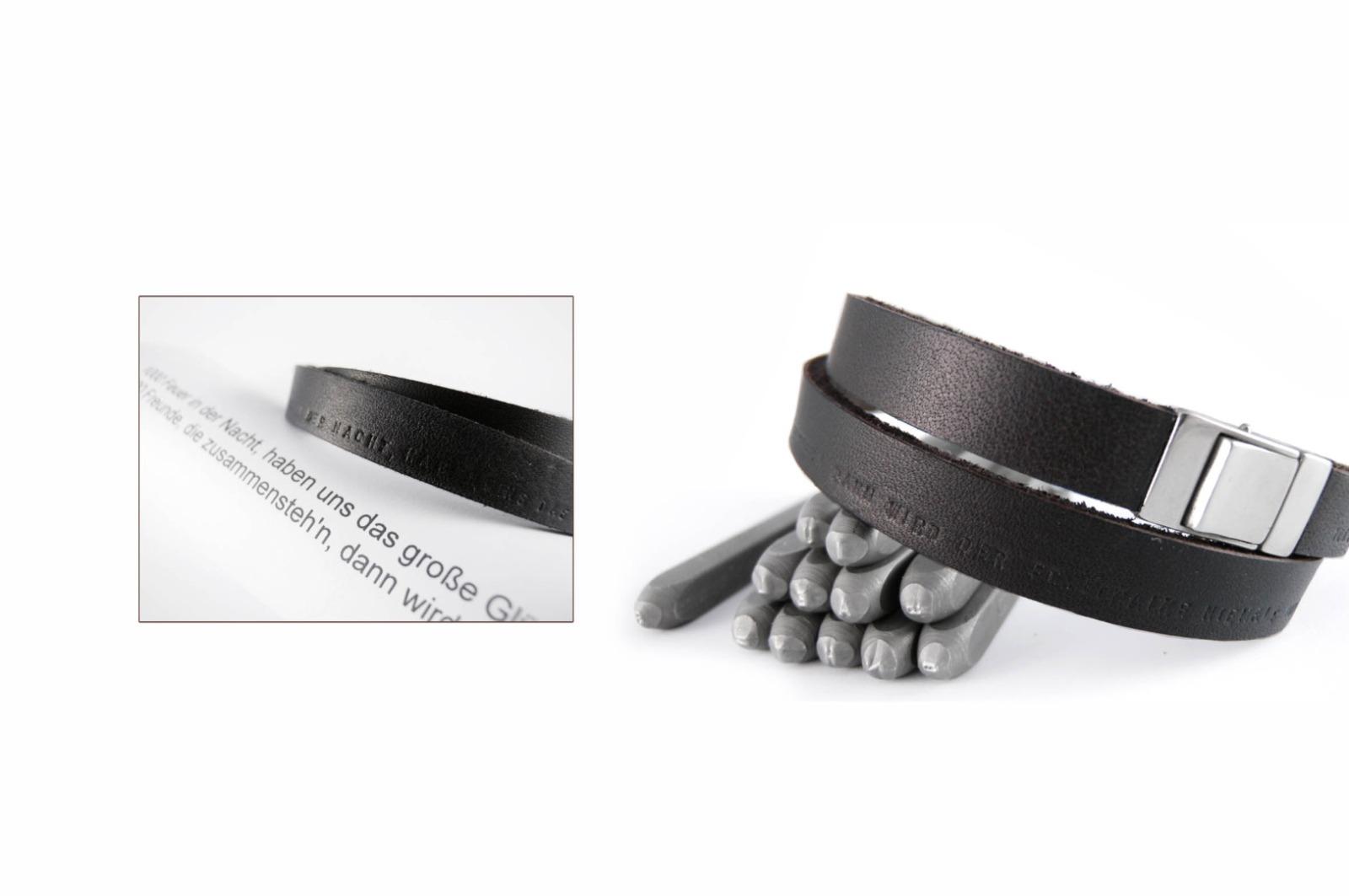 Wickelarmband, Latigoleder und 925er Silber - 3