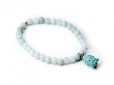 GEMSTONE BUDDHA individualisierbares Armband verschiedenfarbige Jade