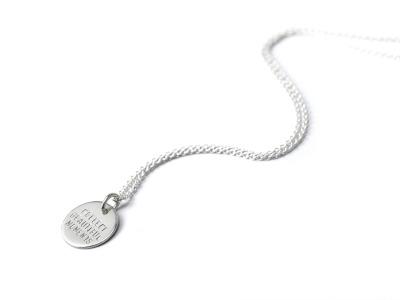 Mottokette CLASSIC Individualisierte Halskette mit handgestempeltem