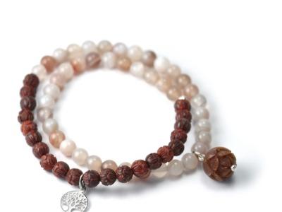 Mala Bracelet WORSHIP LIFE Zweireihiges elastisches