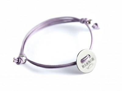 MOTTO BRACELET BUTTON Indivdualisierbares Armband 925er
