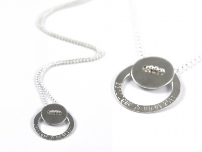 FamilyCharm Kette LOTTE Individualisierte Halskette mit